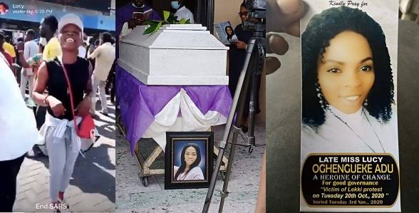 #EndSARS: Female Protester Who Died Few Hours After Posting A Video Dancing At Lekki Toll Gate, Laid To Rest In Delta State (Photos)