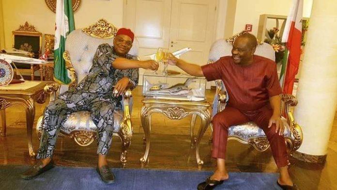 2023: Wike Meets With Former Abia Governor, Orji Uzor Kalu