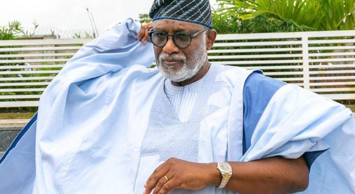 Just In: Ondo Gov, Akeredolu Dissolves Cabinet
