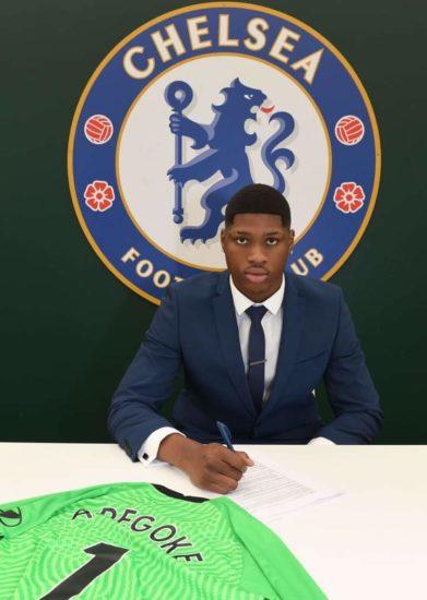 Chelsea Signs 17-Year-Old Nigerian Goalkeeper, Prince Adegoke
