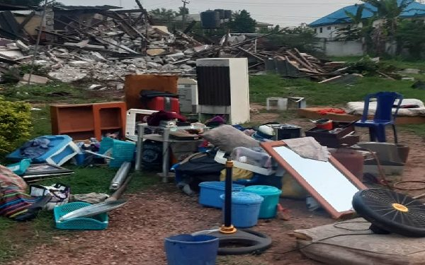 Pandemonium As Houses Of Former Deputy Governor, Two Other APC chieftains Gets Demolished