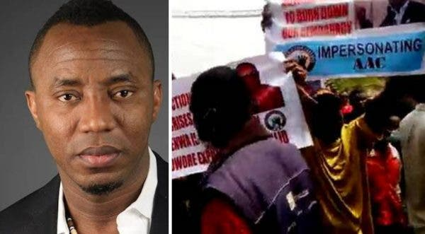 Sowore, Ezenwa AAC Factions Clash At INEC Headquarters In Abuja