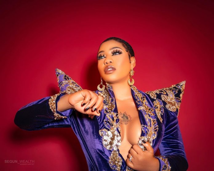 Toyin Lawani Breaks The Internet With Topless Dress On Her Birthday