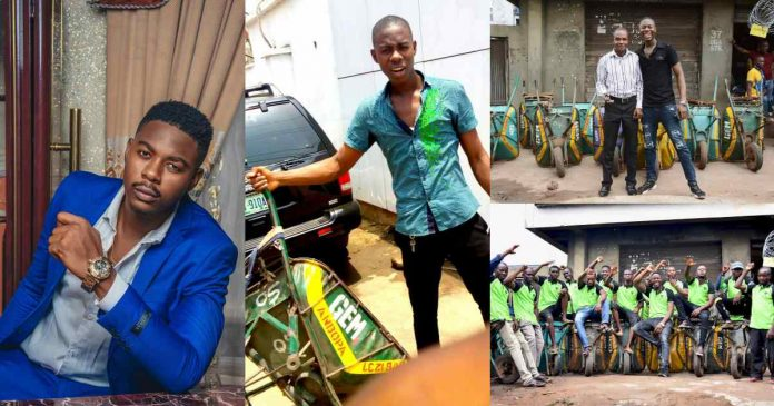 Nigerian Man Narrates How He Became A Millionaire With 'Wheelbarrow' Business