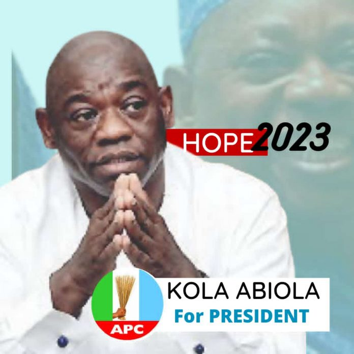 Posters Of Kola Abiola, The Son Of Late MKO Abiola For President Floods Social Media