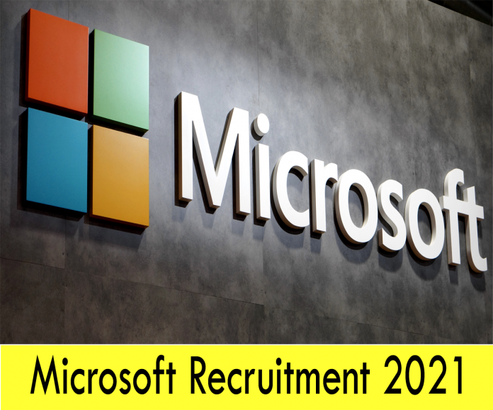 Apply for Microsoft Recruitment 2021 as Advertisement Jobs Portal Opens for Graduates Positions.