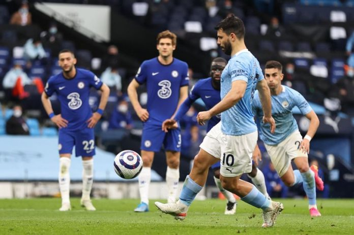 See How Guardiola Reacted To Aguero's Penalty Miss Against Chelsea