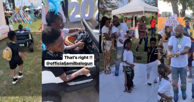 """Jamil, Follow Your Wife Oh!"" – Davido Endorses Tiwa Savage Son As His Daughter Imade's Future Husband (Photos/Videos)"