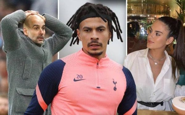 Tottenham Star, Dele Alli Spotted Kissing Pep Guardiola's Daughter