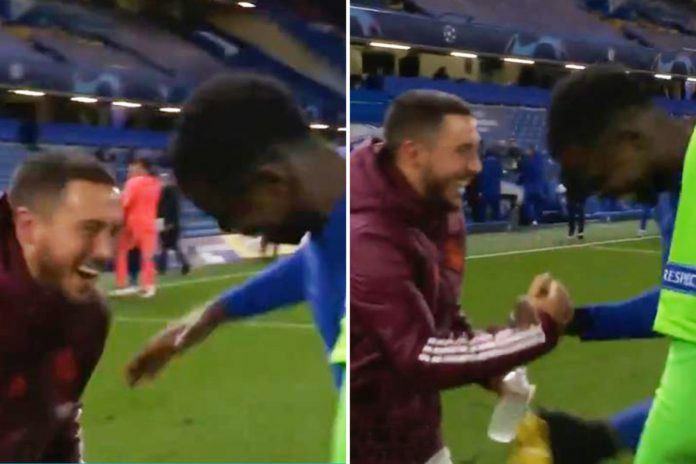 See Content Of Hazard Apology For Laughing With Chelsea Players After Madrid's UCL Exit