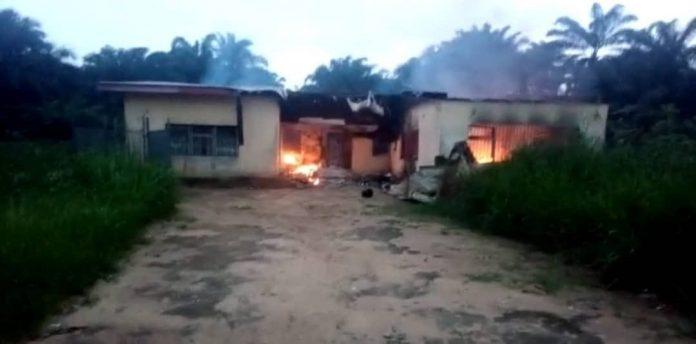 Breaking: INEC Office In Akwa Ibom Set Ablaze