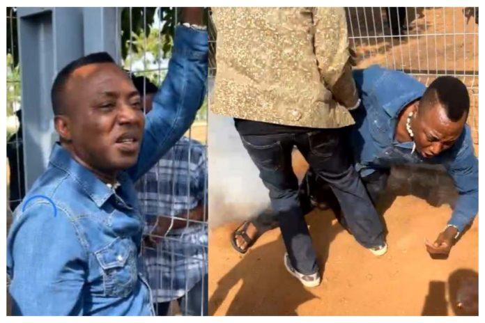 BREAKING: Police Allegedly Shot Omoyele Sowore In Abuja (Video)