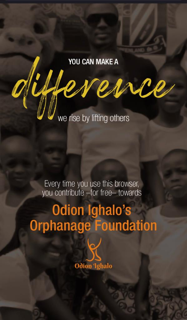 BREAKING: Odion Ighalo Launches Mobile Browser To Support Orphanage Foundation