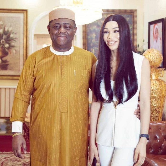 Femi Fani-Kayode Finds Love Again, Meet His New Girlfriend, Chika Nerita (Photos)