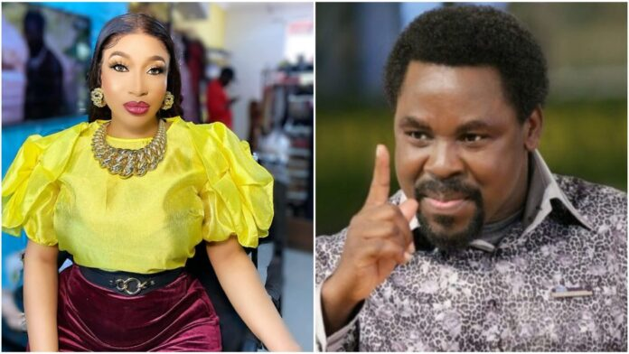 """""""Papa Where Are You? Pick up your call daddy"""" – Tonto Dikeh Reacts To The Death Of Pastor TB Joshua"""