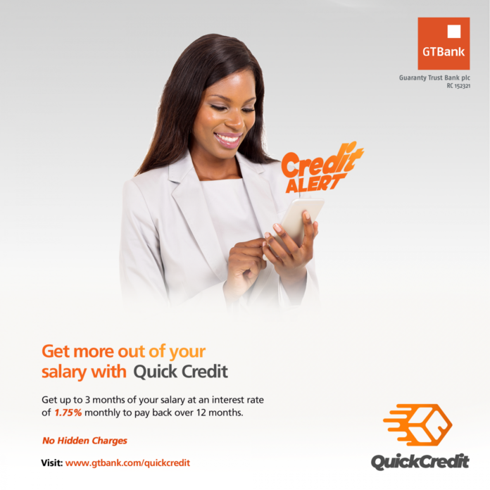 GTBank Quick Credit: Quick And Easy Ways On How To Borrow Money From GTBank