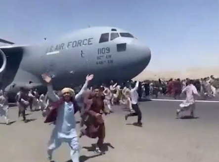 People fall from plane