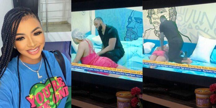 Whitemoney Reacts As Emmanuel Gives Liquorose Body Massage (VIDEO)