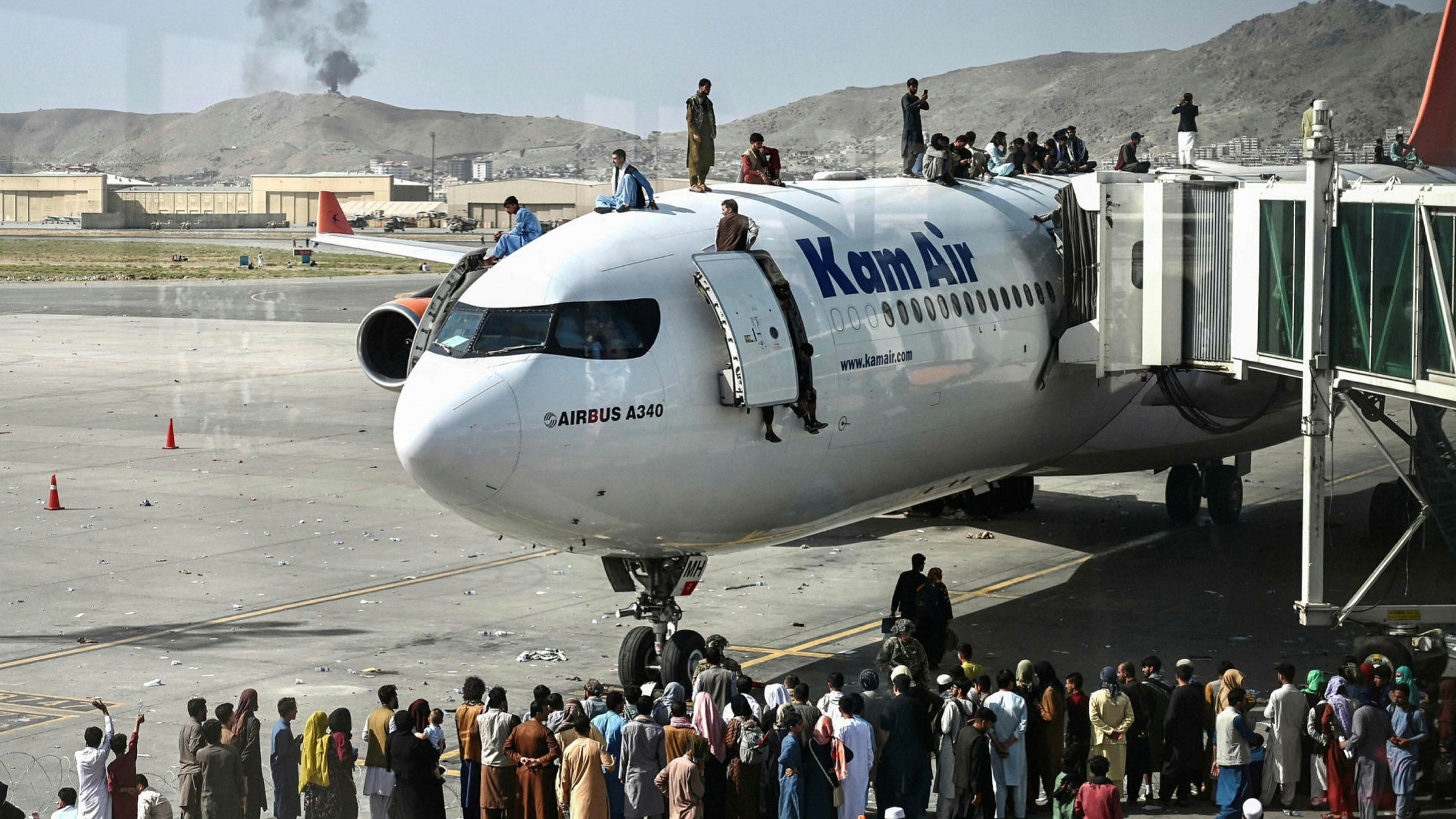 Heartbreaking Moment People 'Fall From Plane' Trying To Flee From Afghanistan (Video)