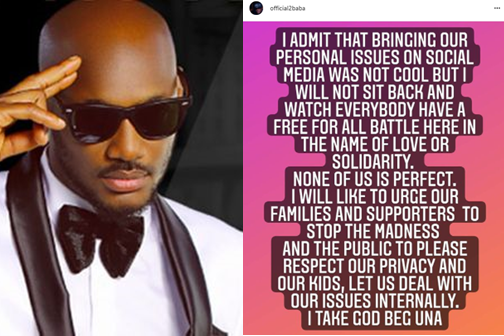 'Stop The Madness' - 2Face Breaks Silence On Family Crisis