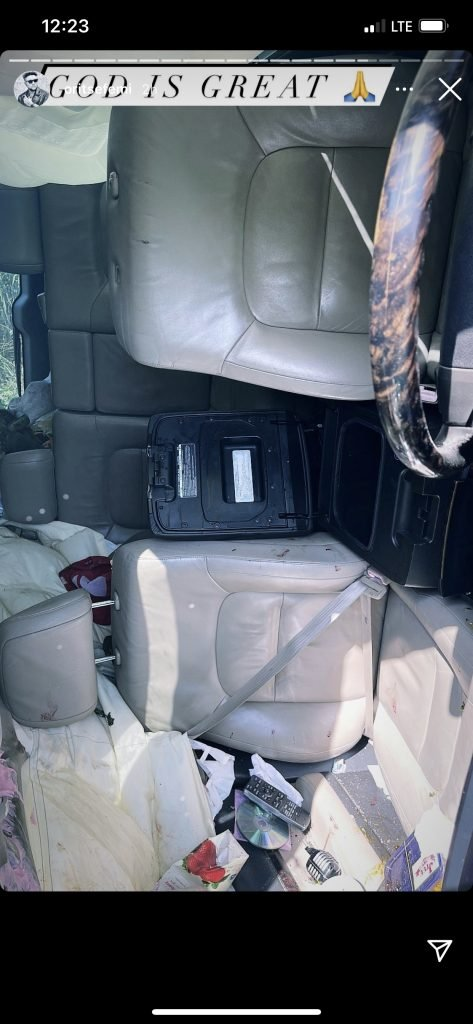 Singer, Oritsefemi Involves In Ghastly Motor Accident (Photos)