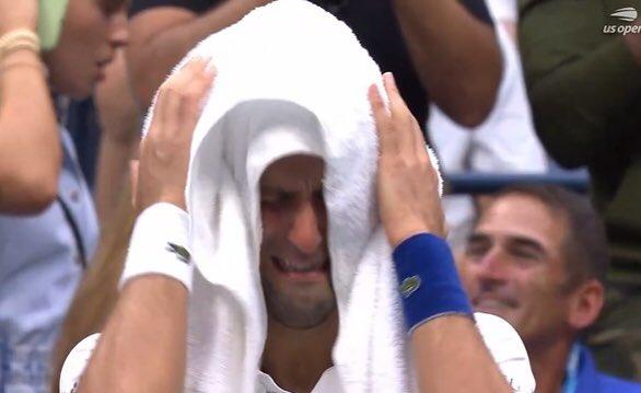 US Open: Djokovic In Tears As He Loses To Daniil Medvedev, See Reactions