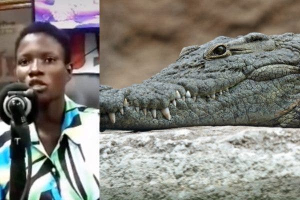 Ghanaian Lady Claims She Was Impregnated By Crocodile [VIDEO]