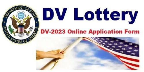 DV-2023: How To Apply For US Diversity Visa Lottery Program 2023, Work In US