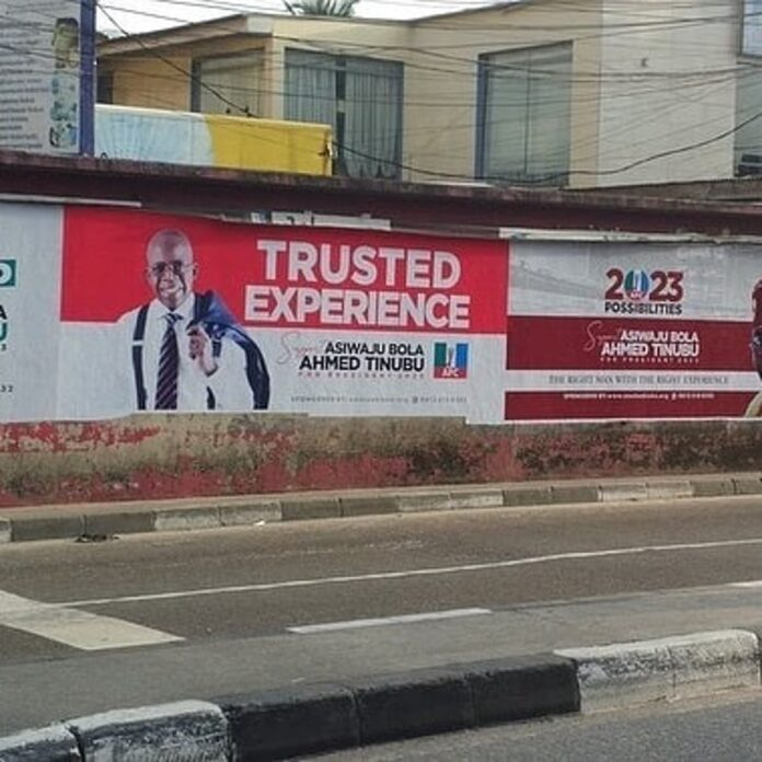 2023: Tinubu's Presidential Posters Surfaces In Lagos (VIDEO)