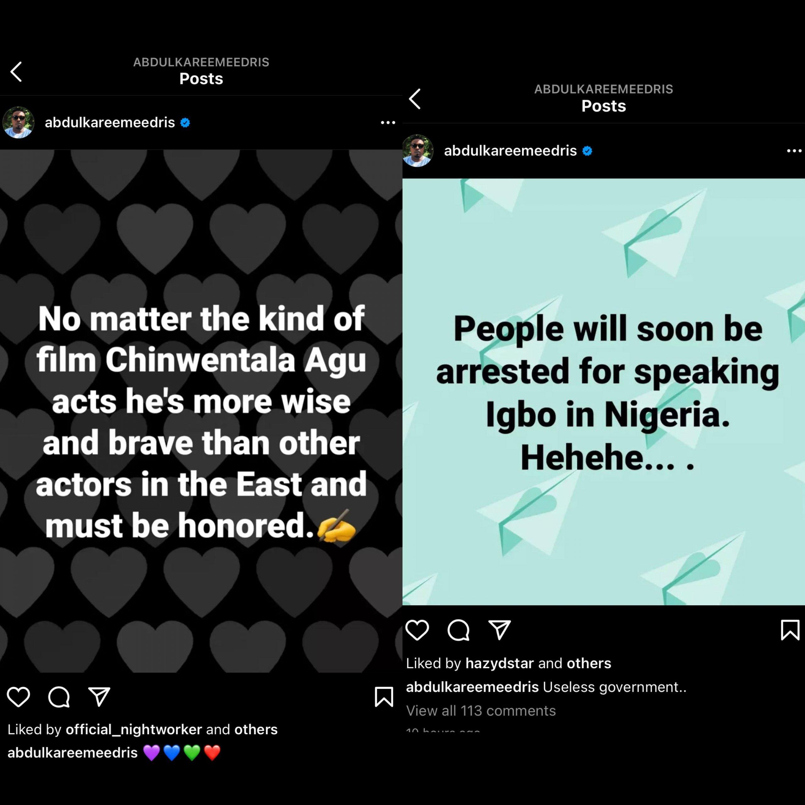 People Will Soon Be Arrested For Speaking Igbo In Nigeria – Eedris Abdulkareem